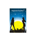 Disco nightclub girls silhouettes. Vector illustration poster