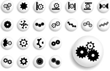 Big set buttons. Gears