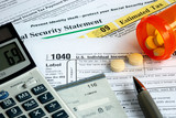Stress in filing the income tax return poster
