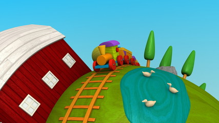 Wooden World -Green fields-