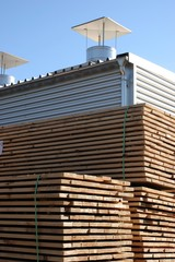 WAREHOUSE, pile of wood ready for processing