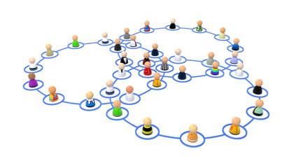 Cartoon Crowd, Link Ring Overlap