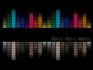 Colorful sound bars