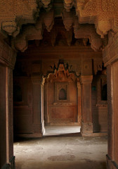 Empty passage in an abandoned temple in Fatehpur Sikri. India
