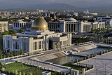 General Views to the president palace. Ashkhabad. Turkmenistan. poster
