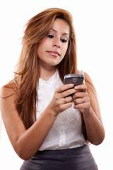Attractive twenties brunette hispanic business woman