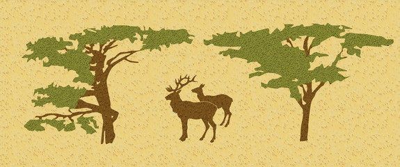 deer in wood amongst tree