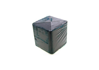 Dark blue cube for a toilet bowl