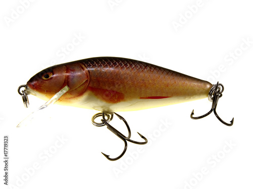 Old red fishing wobbler small fry