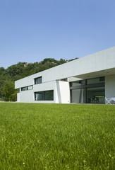 modern house, beauty garden