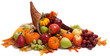 Fall cornucopia on a White back ground - 17723115
