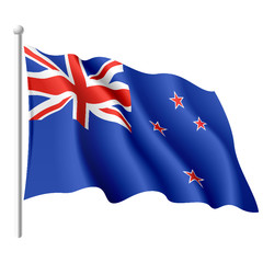 Flag of New Zealand. Vector illustration.