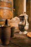 medieval tin jug poster