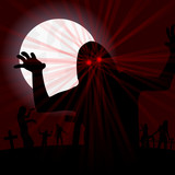 nachts auf dem zombie-friedhof II poster