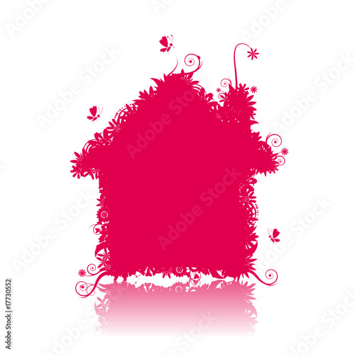 Pink house. See also floral style images in my gallery