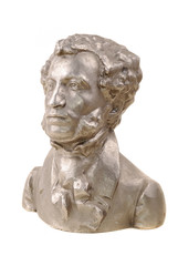 Bust of great Russian poet Pushkin