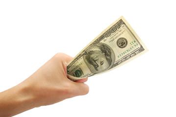 Dollar in fist