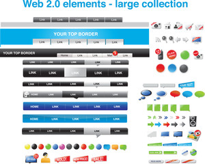 Web 2.0 elements - complete collection