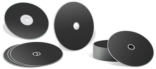 Blank CD in different types