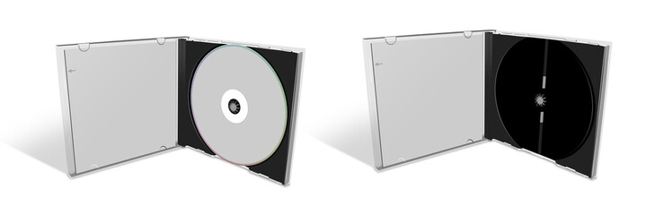 Blank CD in a CD Case and empty case