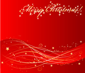 Vector red christmas background