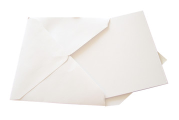 Blank Note Card on Sky