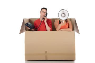 Chat box friends communication