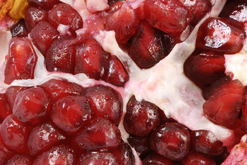 Macro of pomegranate