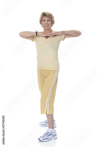 Active senior woman exercising