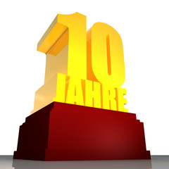 10 Jahre 3D Render
