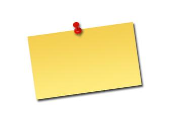 Notizzettel breit gelb