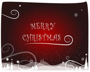 merry christmas animation red