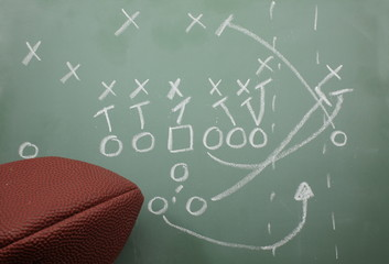 Football Sweep Diagram and football