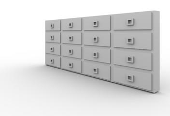 mailbox white simple 3d / server