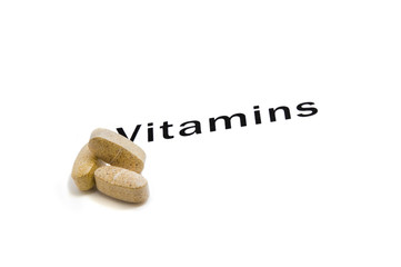 vitamins with lettering