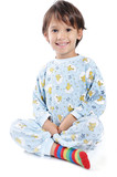 A little beautirul kid in pajamas poster