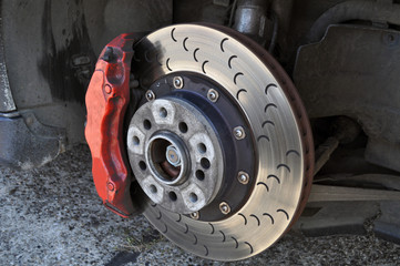 Brake of Supercar