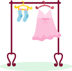 hanging dress and socks
