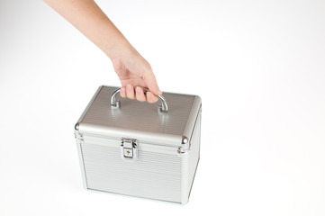 hand lifting a box