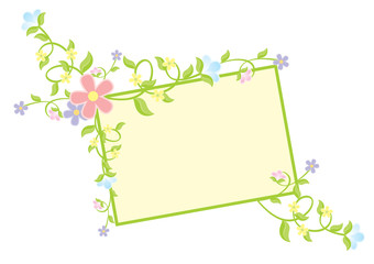 vector color flowers decor banner