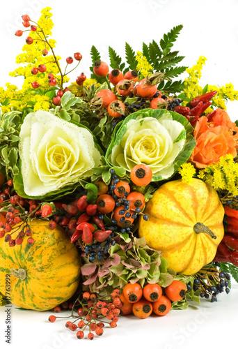 Mazzo fiori autunnale particolare