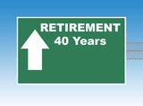 Retirement road sign