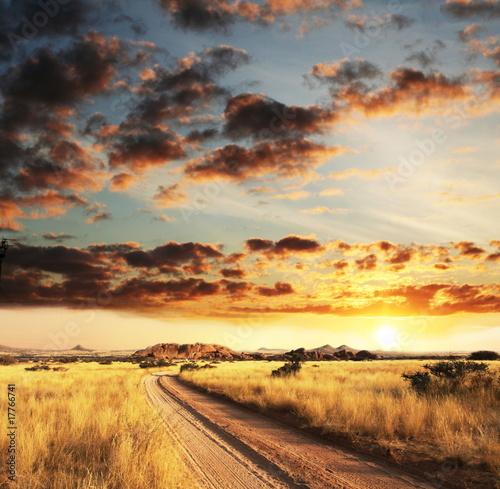 Poster African landscapes