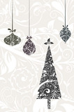 Fototapety Christmas card with an ornament, vector