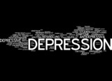 Depression - Abstract word cloud