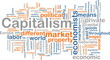 Capitalism management word cloud