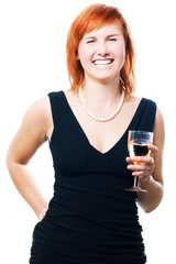 Beauty woman with champagne