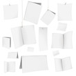 set of vector blank white cards 06