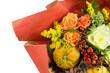 Mazzo fiori autunnale carta particolare