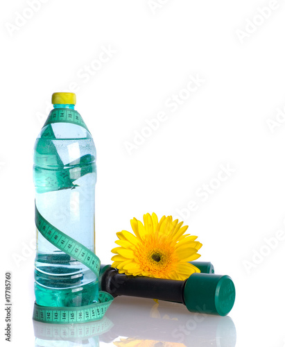 Water Bottle Diet Concept